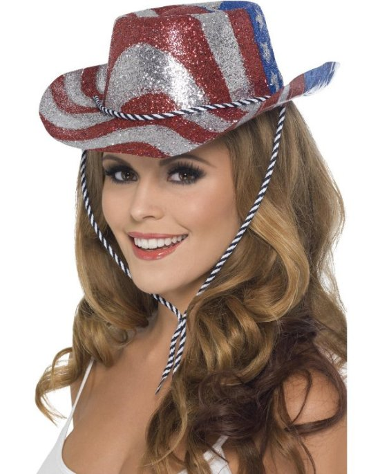 Cowboyhat, stars and stripes Tilbehoer