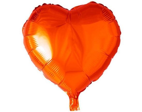 Hjerteformet Folieballon, Orange Festartikler