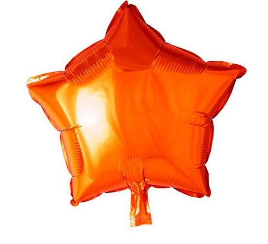 Stjerne Folieballon Orange Festartikler