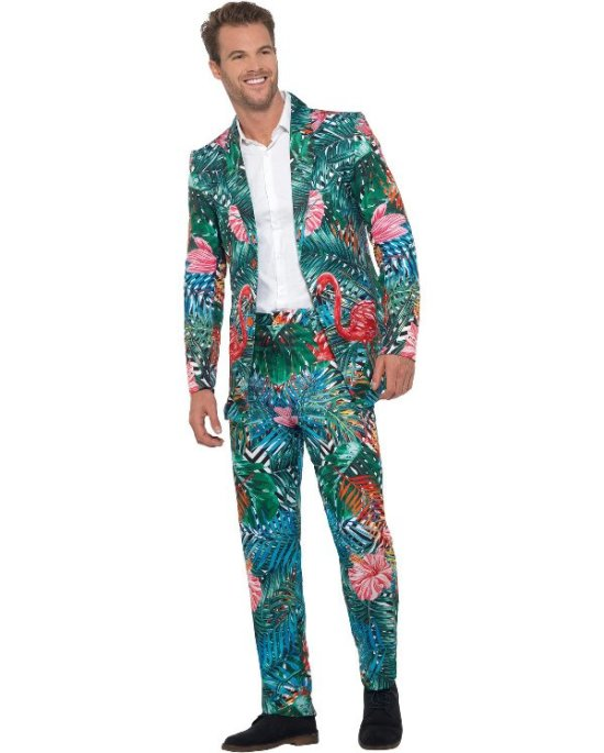 Tropisk Hawaii Flamingo Suit Kostumer